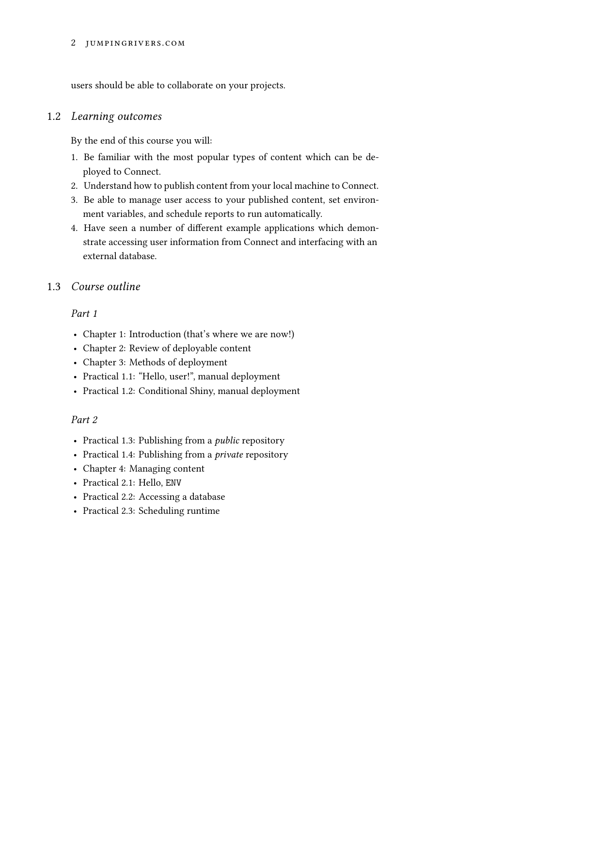 Example course material for 'Introduction to RStudio Connect