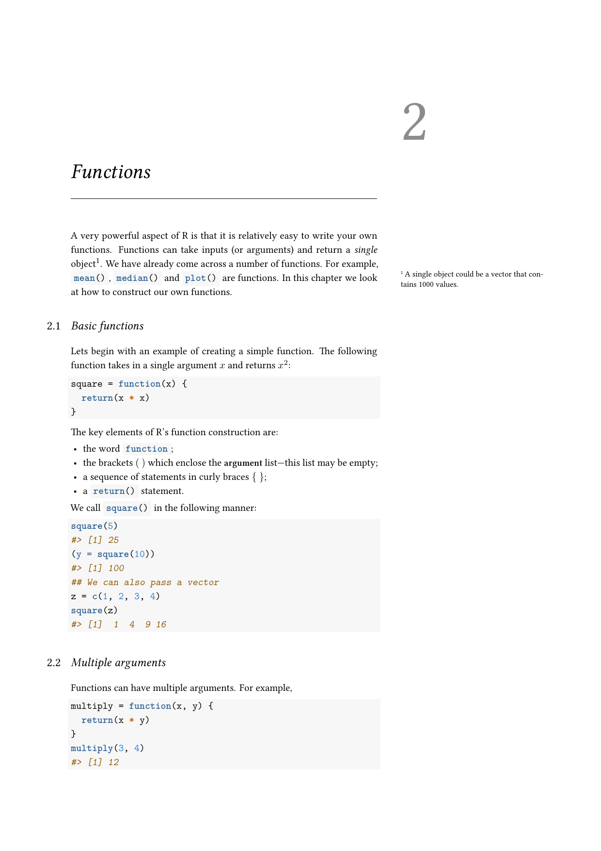 Example course material for 'Programming with R