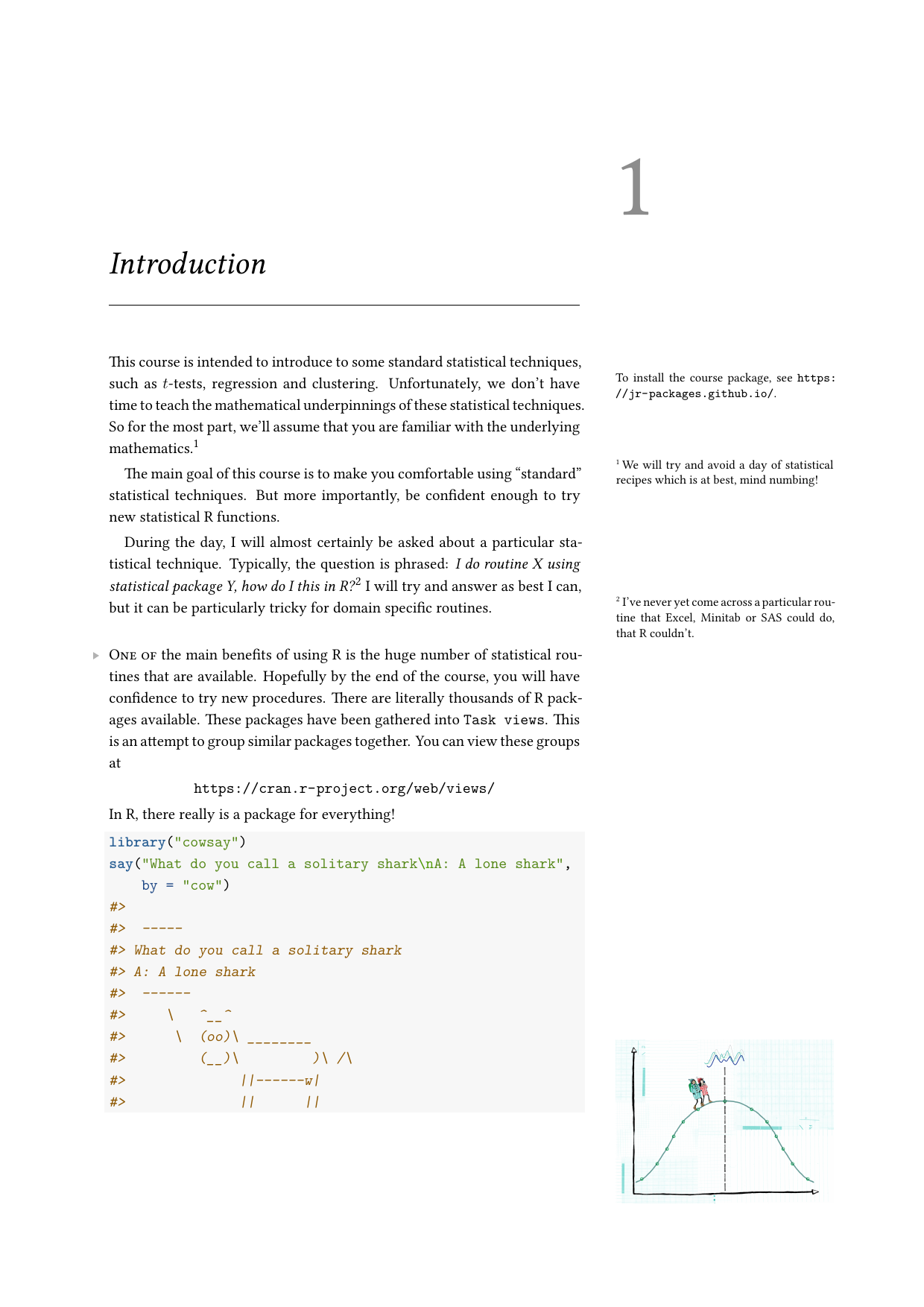 Example course material for 'Statistical Modelling with R